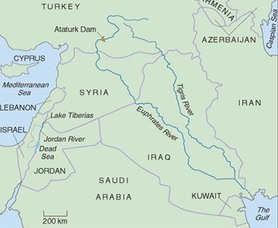 tigris river middle east map Southwest Asia Map Economic Standards